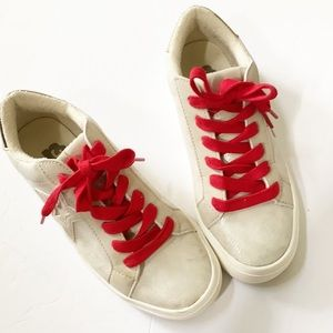 R2 Report | White Star Lace Up Sneakers 7
